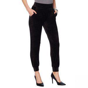 NWT G by Giuliana Velour Jogger Pants Medium Black